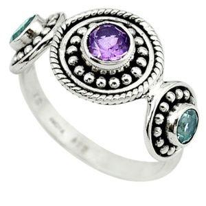 Jewelry - Amethyst & Blue Topaz Ring